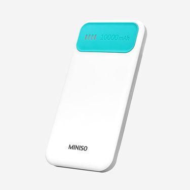 MINISO/名创优品 炫彩便携移动电源10000毫安(粉绿) 型号:JP-62