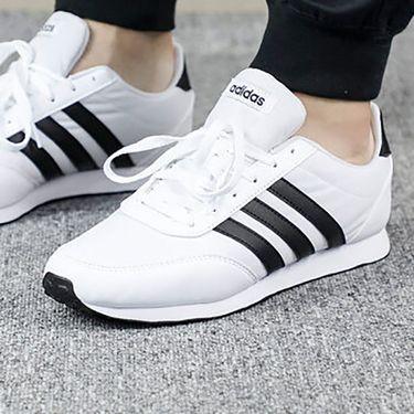 阿迪达斯 Adidas neo男鞋新款V RACER 2.0运动鞋舒适耐磨复古板鞋休闲鞋B75796