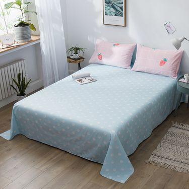 艾桐 纯棉床单 全棉斜纹印花被单 单件