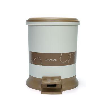 茶花 有盖脚踏垃圾桶圆形家用客厅卫生间垃圾筒带盖脚踏式