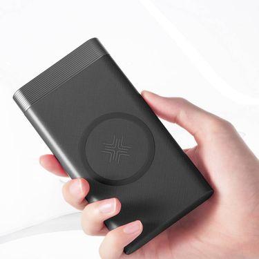 Rock P55无线充移动电源10000mAh黑色 白色可选6971236599320
