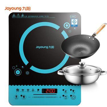 九阳 (Joyoung)电磁炉滑控触摸赠全钢汤锅+榉木炒锅C21-SH818