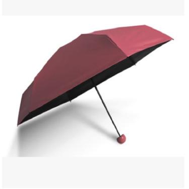 韩纳斯 胶囊伞防晒五折伞折叠太阳伞黑胶晴雨伞