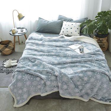 艾桐 毛毯 法莱绒羊羔绒复合毯子 秋冬绒毯