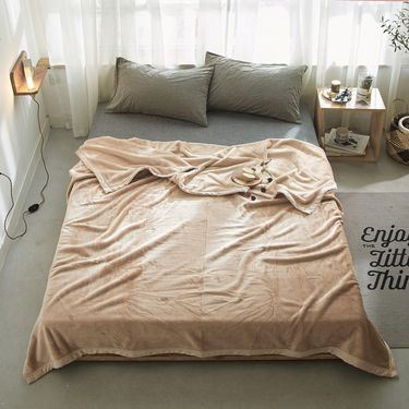 艾桐 毛毯 紫貂绒毯子 纯色休闲盖毯 秋冬铺毯