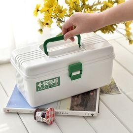 LIKUAI/利快 日本进口Fudogiken药箱 药盒 药品收纳盒 家用急救箱 儿童医药箱