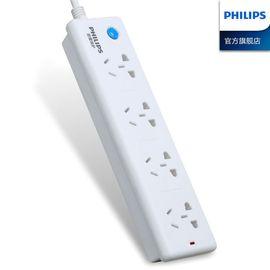 飞利浦 【官方旗舰店】 防雷保护 电源插座接线板 插排插板4位 1.8米拖线板正品SPS2420S