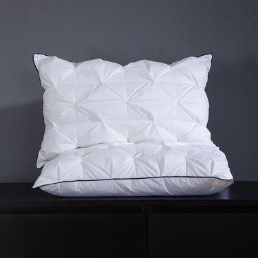 艾桐 枕头 全棉贡缎高弹羽丝绒枕芯 酒店柔软护颈枕