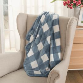 多喜爱 美眠康 午睡披肩毯子秋冬加厚披肩毯办公室加长空调毯100*150cm 颜色随机