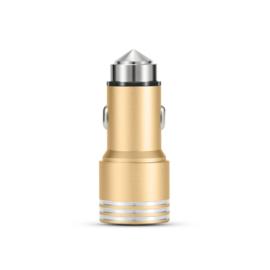 爱蚁 金属车载充电器 通用快充双USB车充适于华为苹果X小米6/OPPOR11s手机 车充(带灯款)