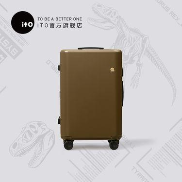 ITO 侏罗纪世界泥土磨砂行李箱旅行箱万向轮男女箱  泥土