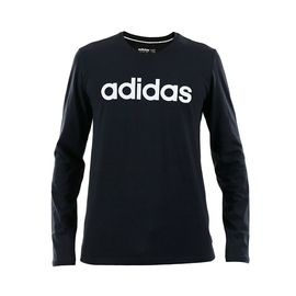 阿迪达斯 男长袖T恤2018新款圆领针织透气运动休闲套头衫DM4271