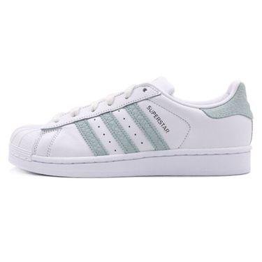 阿迪达斯 adidas Originals阿迪三叶草女鞋新款SUPERSTAR W贝壳头时尚休闲鞋板鞋B41509