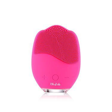 BlingBelle BS-025  郁金香洁面仪充电动硅胶男女贝琳贝尔刷洗脸仪面部超声波美容器毛孔清洁神器 粉红色