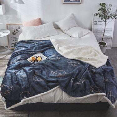 宝瑞祥 新款复合印花羊羔绒毛毯 毯子 维尔 床上用品 床品