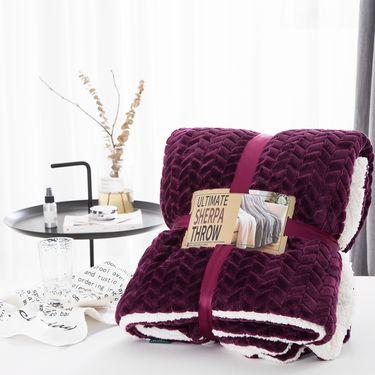 宝瑞祥 高档加厚提花羊羔绒毛毯  毯子 绒毯 床上用品 床品