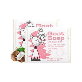 Goat soap 山羊奶皂100g*2椰子油味 澳洲进口手工香皂温和清洁儿童滋润保湿自然萃取 香港普维