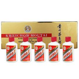 贵州茅台 歌德盈香  茅台酒 金条/银条 条茅小酒 金色白色条盒装 酱香型白酒 53度50ml*5瓶