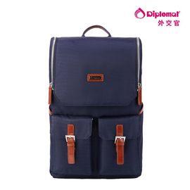 DIPLOMAT 外交官 休闲时尚双肩背包 韩版潮流背包 商务包 深蓝色 YH-752
