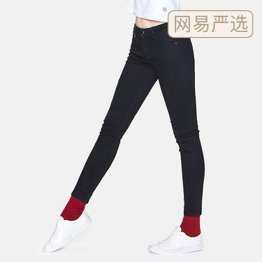 网易严选 女式弹力修身小脚牛仔裤