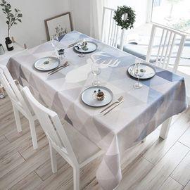 范居态度 北欧现代简约餐桌布艺台布圆桌布长方形茶几布客厅餐厅多用盖巾布 N款