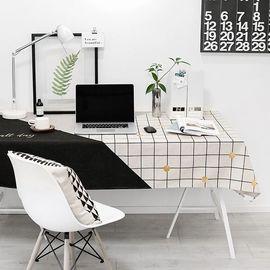 范居态度 现代餐桌布艺台布圆桌布加厚长方形茶几布几何图案客厅餐厅书桌多用盖巾布 A款