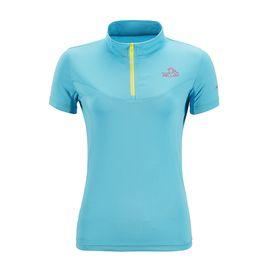 伯希和 PELLIOT户外速干衣 女男跑步运动T恤吸湿透气立领短袖健身t恤