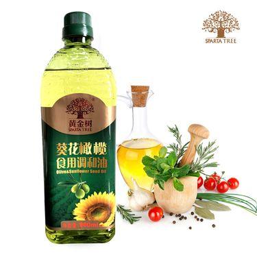 黄金树 葵花橄榄食用调和油900ml 非转基因压榨食用调和油