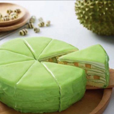 京基百纳 法式榴莲千层蛋糕+奶茶