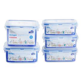 LOCK&LOCK HPL855-PRS001保鲜盒五件套 比得兔系列保鲜套装 白色