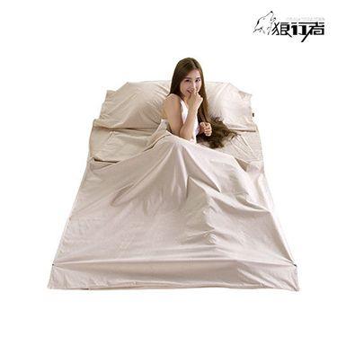 狼行者 旅行酒店成人隔脏睡袋LXZ-2034 室内宾馆酒店出差便携式纯棉床单