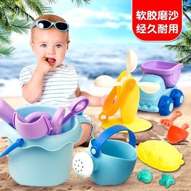 麦迪熊 【正品特卖】儿童沙滩玩具套装婴儿决明子挖铲沙子水桶浇花壶戏水工具