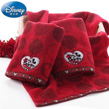 DISNEY 迪士尼Disney米妮米奇情侣婚庆纯棉大面巾 纯棉儿童成人毛巾 卡通