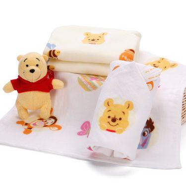 DISNEY   迪士尼维尼熊幸福全家纱布方巾 【2条装】