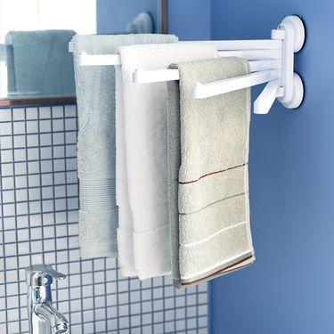 SP SAUCE 日本吸盘毛巾架浴巾架 浴室挂钩粘钩 卫生间置物架 洗手间毛巾杆 免打孔