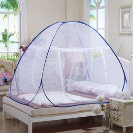 好暖 蒙古包蚊帐免安装钢丝有底无底折叠式单双门魔术蚊帐
