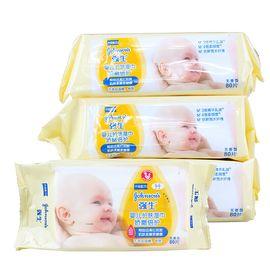 强生婴儿 【强生官方旗舰店】强生婴儿 娇嫩倍护护肤湿巾80片*3包新生儿宝宝湿纸巾