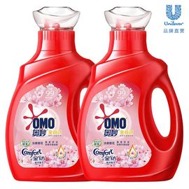 奥妙 洗衣液全自动洗护合一深层洁净含金纺淡雅樱花1kg 两瓶装