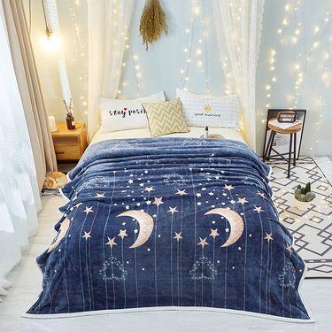 澳西奴 北欧云貂绒毛毯双面珊瑚绒毯子懒人 毯保暖绒毯双人午睡网红毯盖毯