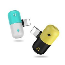 蛇蝎龙 苹果转接头 同时充电/听歌 iphoneX7/8/p 双Lightning接口分线器