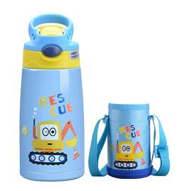 lanpiind  郎品 儿童保温杯儿童吸管杯子婴儿水壶宝宝手柄316不锈钢水杯