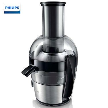 飞利浦 (PHILIPS)榨汁机家用渣汁分离榨汁机 不加水纯果汁 HR1863果汁杯800ml 大口径 不锈钢底座