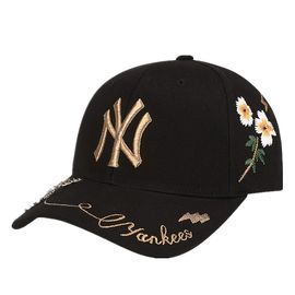 MLB 棒球帽NY洋基队鸭舌帽 时尚嘻哈经典刺绣男女通用款 舒适透气防晒32CPFN741-50L