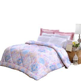 富安娜 舒柔暖冬被佩兹利 1.5米床磨毛印花面料柔暖亲肤