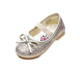 百丽 BeLLE童鞋女童皮鞋2018春季新款中童公主鞋迪士尼联名款系列小单鞋DE0702