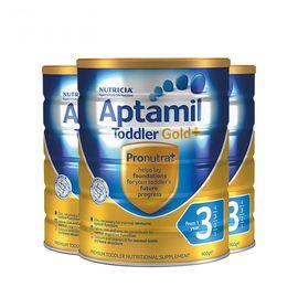 aptamil/爱他美 新西兰爱他美3段(1-2岁)金装婴幼儿牛奶粉900g 澳洲进口 益生元配方 美易在线