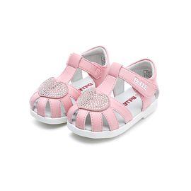 百丽 童鞋女童休闲凉鞋新款幼童宝宝鞋学步鞋儿童水钻沙滩鞋DE5937