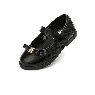 百丽 童鞋女童黑色皮鞋2018新款儿童学生鞋中小童单鞋公主鞋子DE0763