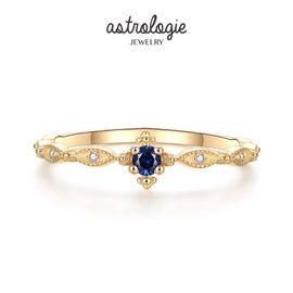 astrologie 原创经典海洋之心蕾丝镶钻戒指女S925银镀金中指气质指环