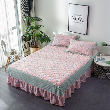 艾桐 夹棉床裙 纯棉加厚床罩